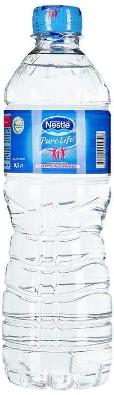 Nestle Pure Life вода негазированная, 0,5 л конфеты nestle 750g