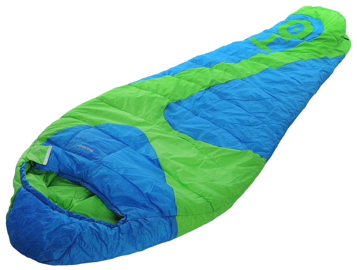 Спальный мешок Husky Mantilla, левосторонняя молния, цвет: голубой, салатовый. УТ-000051321