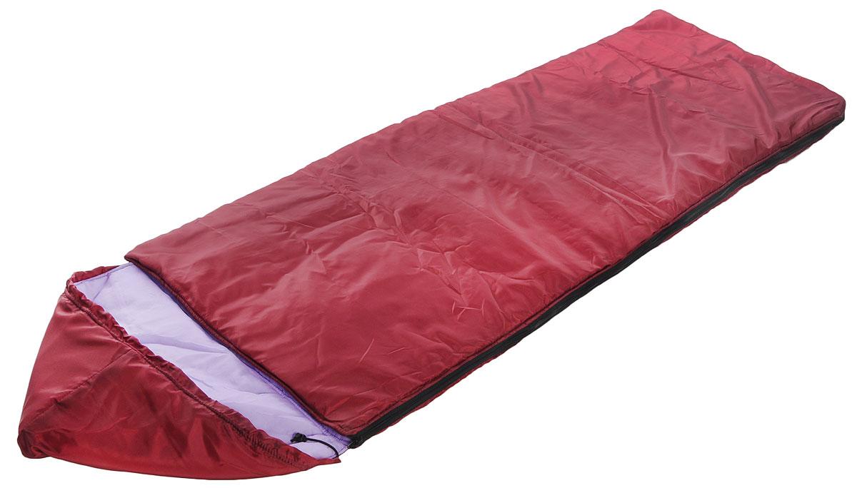 Спальный мешок Onlitop Престиж, цвет: бордовый, сиреневый, правосторонняя молния. 1344027