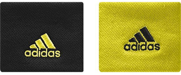 Напульсники Adidas Ten Wb S, цвет: черный, желтый. CE8189. Размер универсальныйCE8189Сконцентрируйся только на мяче и подачах. Эти теннисные напульсники помогут ни на что не отвлекаться. Комфортный плотный материал хорошо впитывает влагу. Вышитые логотипы adidas дополняют спортивный образ.Ширина: 5 см; длина в сложенном состоянии: 8,5 см