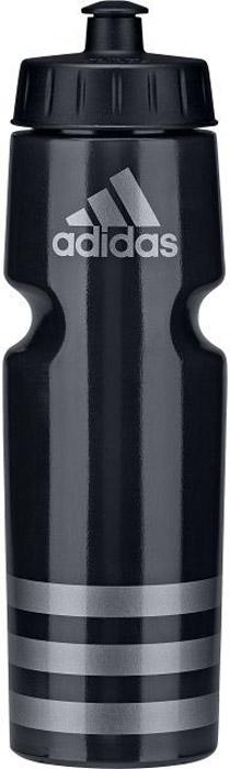 """Употребление достаточного количества жидкости - важная часть спортивного режима. А благодаря бутылке Adidas """"Perf Bottl"""" с удобным клапаном для питья можно утолить жажду, не отрываясь от тренировки. Данная модель подходит к большинству велосипедных холдеров, не содержит бисфенол А и ее можно мыть в посудомоечной машине.  Модель украшена в верхней части контрастным логотипом adidas и тремя полосками в нижней части.. Объем: 750 мл. 100%литой полиэтилен.    Как повысить эффективность тренировок с помощью спортивного питания? Статья OZON Гид"""