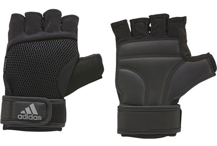 Перчатки для фитнеса Adidas Ccool Perf Gl M, цвет: черный. S99614. Размер 18S99614Перчатки для более Adidas предназначены для надежного и комфортного хвата при выполнении упражнений. Мягкие вставки на ладони - для большей защиты. Застежка на липучке на запястье обеспечивает плотную посадку. Освежающая технология climacool® и сетчатая вставка на тыльной стороне для оптимальной вентиляции. Технология climacool® сохраняет приятные ощущения прохлады и свежести благодаря специальным сетчатым вставкам.Амортизирующие вставки на ладонях для дополнительной защиты и сцепленияВентилируемая сетчатая вставка на тыльной стороне.Специальная вставка в области большого пальца эффективно поглощает влагуРегулируемая застежка на липучке.Петелька между пальцами для быстрого снимания.