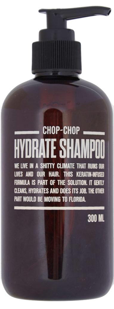 Chop-Chop Увлажняющий шампунь, 300 млCHPCHP.SHMP.HСоздан специально для сухих волос и чувствительной кожи. Мягко очищает и восстанавливает структуру волос. Поддерживает естественный водный баланс и придает волосам натуральный блеск. Объем: 300 мл.