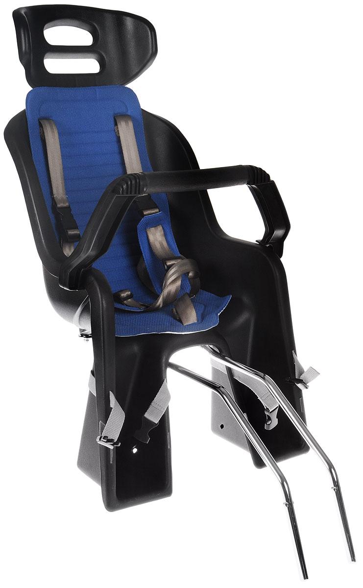 Детское велокресло SunnyWheel SW-BC-137, заднее, цвет: синий, серый