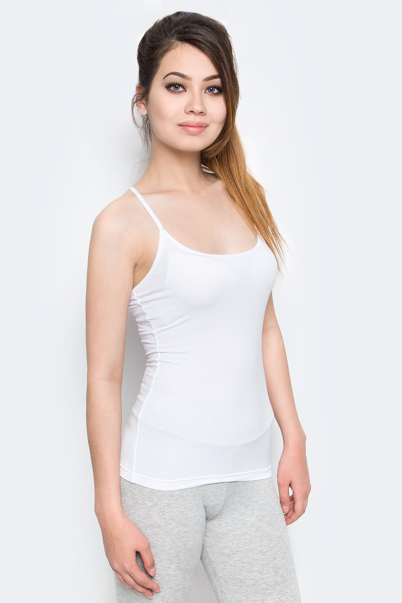 Майка женская Puma Iconic Racer Back Tank, цвет: белый. 90687304. Размер L (46/48) cut out back floor length tank dress