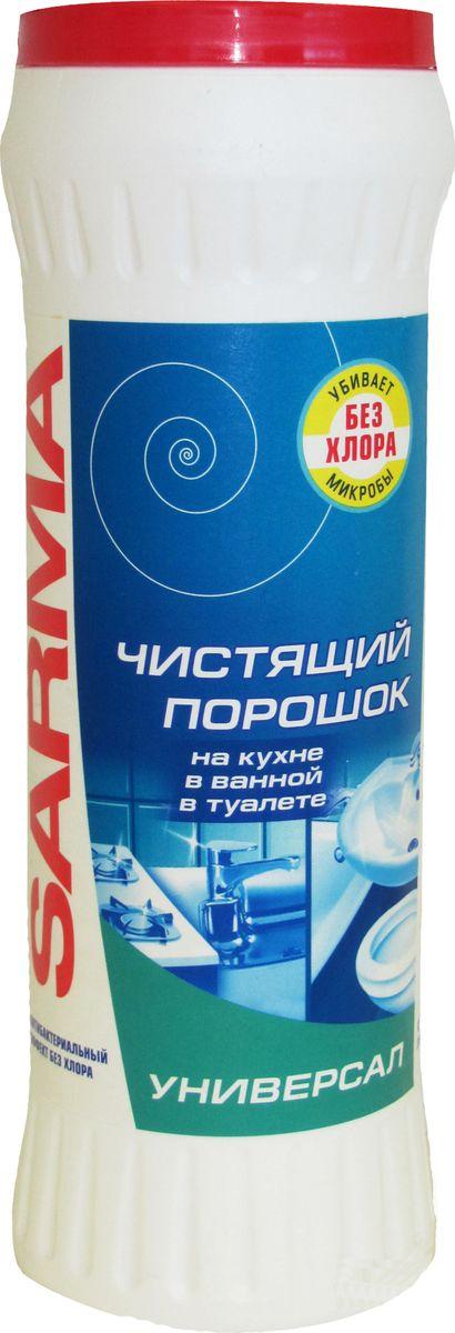 Порошок чистящий Sarma Универсальный, с антибактериальным эффектом, 400 г08076Порошок предназначен для чистки, отбеливания и антибактериальной обработки керамических, фаянсовых, эмалированных, металлических и других твердых поверхностей на кухне, в туалетной и ванной комнатах, подходит также для чистки посуды от налетов, жира и пригоревших остатков пищи. Уникальная активная формула мгновенно очищает, удаляет жир, отбеливает и придает блеск поверхностям благодаря соде и активному кислороду, входящим в состав чистящего порошка. Уничтожает вредные бактерии без вреда для здоровья, так как не содержит хлор, а значит, не раздражает кожу и дыхательные пути. Товар сертифицирован. Как выбрать качественную бытовую химию, безопасную для природы и людей. Статья OZON Гид