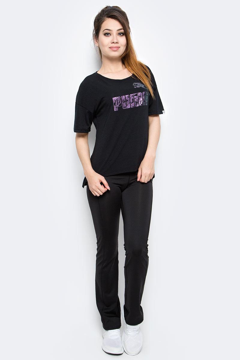 Футболка женская Puma Swan Tee W, цвет: черный. 59136501. Размер XXL (50/52) by swan by004ewiwe13