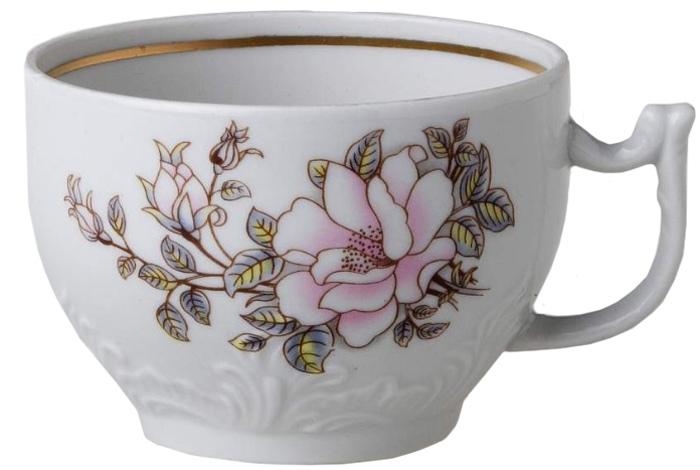 Чашка чайная Фарфор Вербилок Контесса. 577061577061Фарфоровые чашки коллекции «Промыслы Вербилок» и размером, и декором отвечают всем требованиям людей с широкой душой и хорошим аппетитом, поэтому прекрасно подходят как для ежедневных трапез, так и для подарков дорогим друзьям.