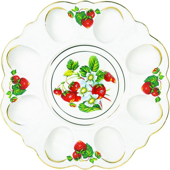 Блюдо для яиц Фарфор Вербилок Цветущая земляника. 26351490УП кружка фарфор вербилок арабеска цветущая земляника 250 мл