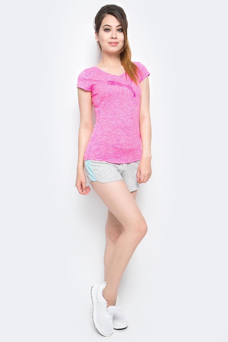 Футболка женская Puma Heather Cat Tee, цвет: розовый. 51412107. Размер XS (42)