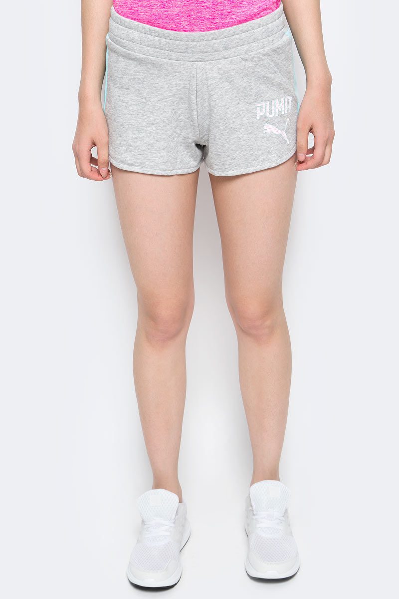 Шорты женские Puma Athletic Shorts W, цвет: серый. 59075604. Размер XS (40/42) шорты женские columbia silver ridge pull on short w shorts цвет бежевый 1710641 221 размер xs 42