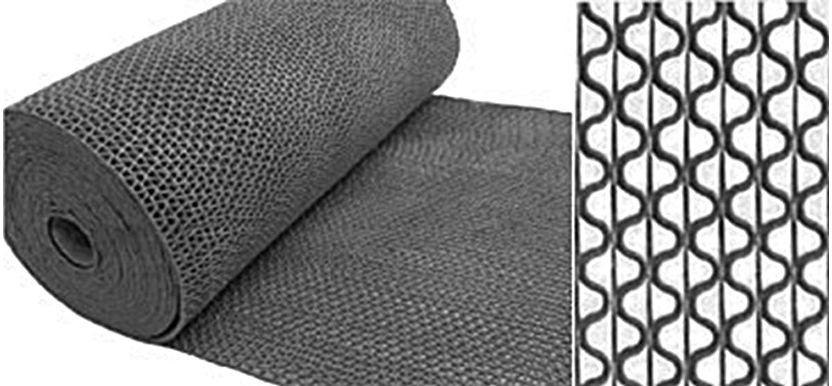 Коврик-дорожка противоскользящий SunStep Zig-Zag, цвет: серый, 0,9 х 12 м39-681Коврик-дорожка противоскользящий Zig-Zag 5мм 0,9х12 м, серый, SUNSTEP™