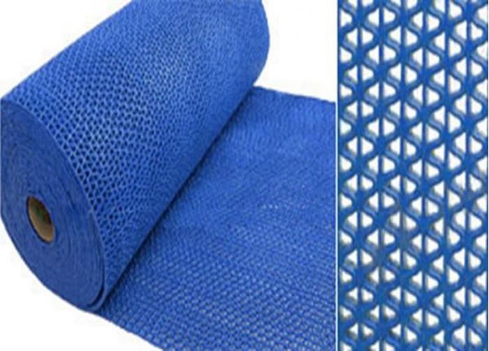 Коврик-дорожка противоскользящий SunStep Zig-Zag, цвет: синий, 0,9 х 12 м39-686Коврик-дорожка противоскользящий Zig-Zag 5мм 0,9х12 м, синий, SUNSTEP™