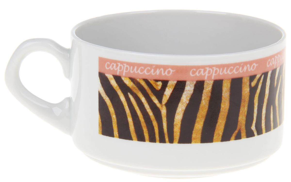 Чашка кофейная Фарфор Вербилок Европейка. Капучино. Тигр. 20721612072161Фарфоровые чашки коллекции «Промыслы Вербилок» и размером, и декором отвечают всем требованиям людей с широкой душой и хорошим аппетитом, поэтому прекрасно подходят как для ежедневных трапез, так и для подарков дорогим друзьям.