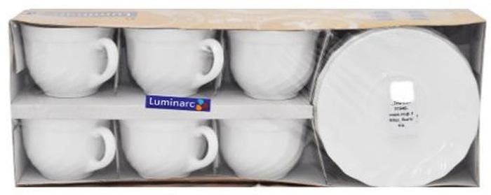 Чайный набор Luminarc ТРИАНОН, 160 мл, 12 предметов21650610Чайный набор Luminarc ТРИАНОН изготовлен из высококачественного стекла. Вегосостав входят шесть чашек и шесть блюдец. Предметы набора выполнены вклассическом стили. Элегантный дизайн и совершенные формы предметов набора привлекут к себевнимание и украсят интерьер вашей кухни. Чайный набор Luminarc ТРИАНОНидеально подойдет для сервировки стола и станетотличным подарком к любому празднику. Объем чашек: 160 мл.