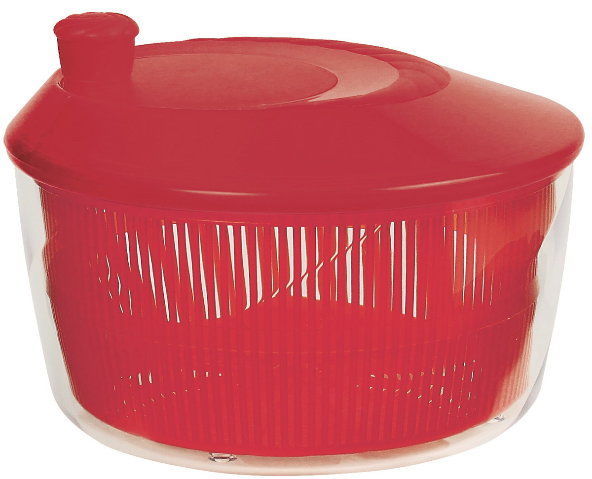 Сушилка для зелени Cosmoplast, цвет: красный, 4,2 л2519Сушилка для зелени Cosmoplast, выполненная из пищевого пластика, состоит из прозрачной емкости, сита и крышки с кнопкой. С ее помощью можно просушивать зелень, салаты и многое другое. Вращением ручки на крышке приводится в действие вращательный механизм, и лишняя влага оседает внизу. Сушилка достаточно вместительная, что позволит ваш просушить сразу весь уже нарезанный салат. Сушилка легко моется и разбирается, что гарантирует максимальную гигиену. Эффект антискольжения обеспечивают удобные ножки и ручка вращения. Функциональность, прочность и универсальность сделают такую сушилку незаменимым аксессуаром для приготовления ваших любимых блюд.