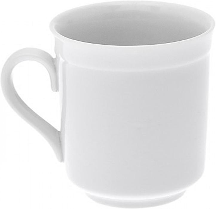 Кружка Дулевский Фарфор Цилиндрический. Белая, 250 мл015202Кружка Дулевский фарфор способна скрасить любое чаепитие. Изделие цилиндрической формы выполнено из высококачественного фарфора.Посуда из такого материала позволяет сохранить истинный вкус напитка, а также помогает ему дольше оставаться теплым. Кружка оснащена удобной ручкой.