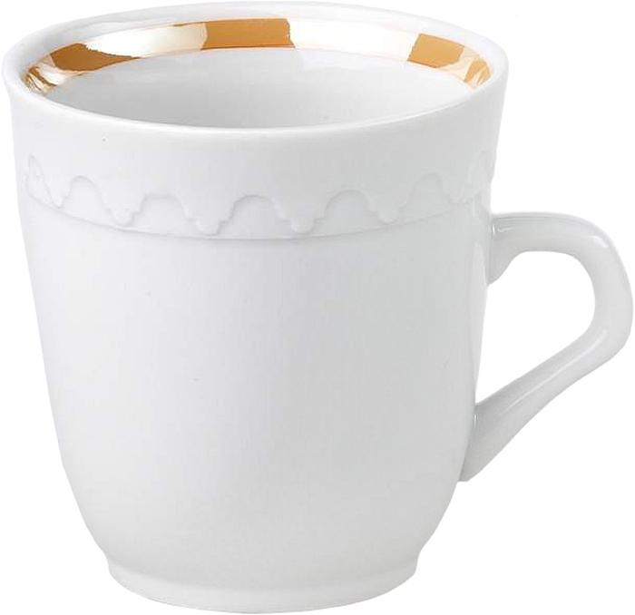 Кружка Фарфор Вербилок Арабеска. 2431124024311240Красивая фарфоровая кружка способна скрасить любое чаепитие. Посуда из такого материала позволяет сохранить истинный вкус напитка, а также помогает ему дольше оставаться теплым.
