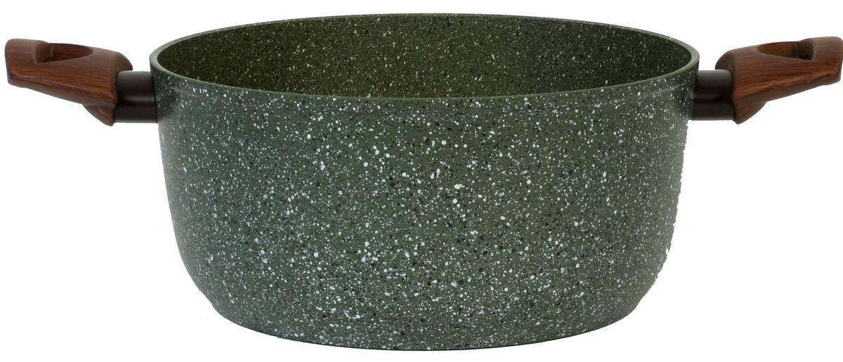 """Кастрюля TVS """"Natura"""" выполнена из алюминий с антипригарным покрытием. Антипригарное  покрытие, усиленное минеральными частицами, обеспечивает идеальную  устойчивость к царапинам, образованию пятен и износу. Изделие оснащено ненагревающимися  ручками из бакелита."""
