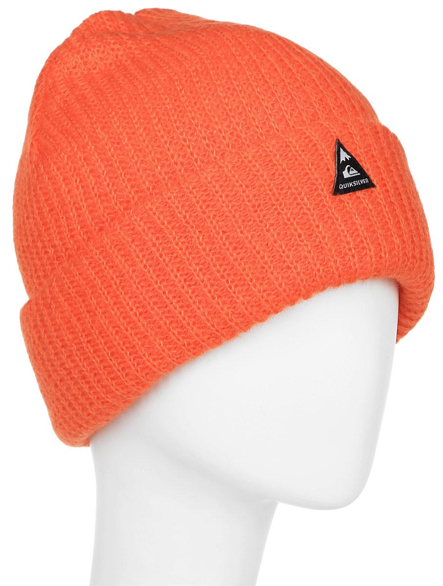 Шапка мужская Quiksilver Routine, цвет: оранжевый. EQYHA03030-NMJ0. Размер универсальныйEQYHA03030-NMJ0Мужская шапка выполнена из высококачественного акрила. Оформлена отворотом и нашивкой.