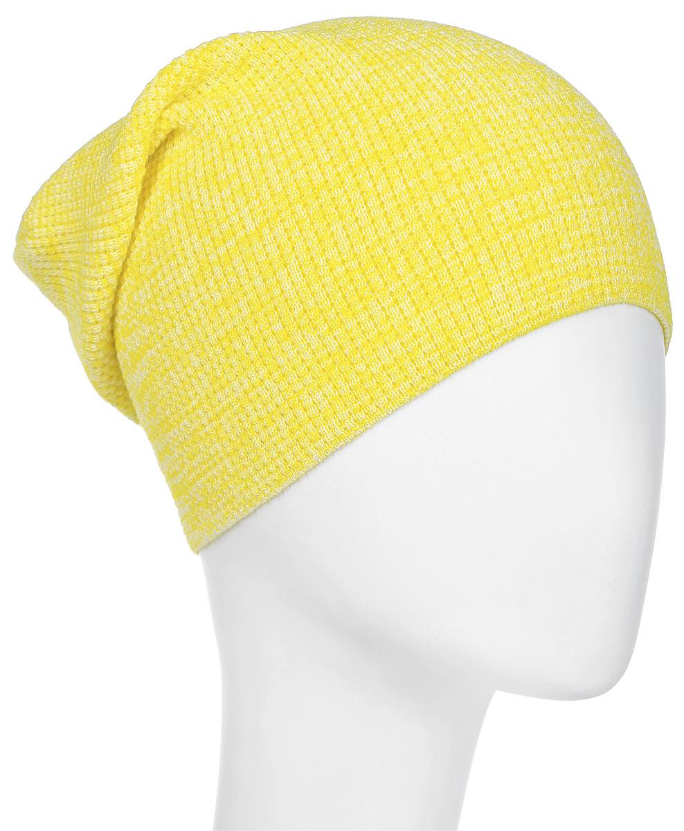 Шапка Converse Twisted Waffle Knit Beanie, цвет: желтый. 531113. Размер универсальный531113Шапка Converse выполнена из качественного акрила. Модель дополнена нашивкой с названием бренда.