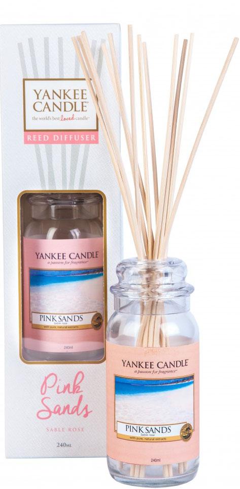 Диффузор Yankee Candle Розовые пески, 240 мл1315792EДиффузор Yankee Candle имеет потрясающий, сладко-свежий аромат моря, ветра и романтики. Верхняя нота: цитрусовые, дыня, ягоды.Средняя нота: османтус. Базовая нота: пряная ваниль, мускус, древесные.