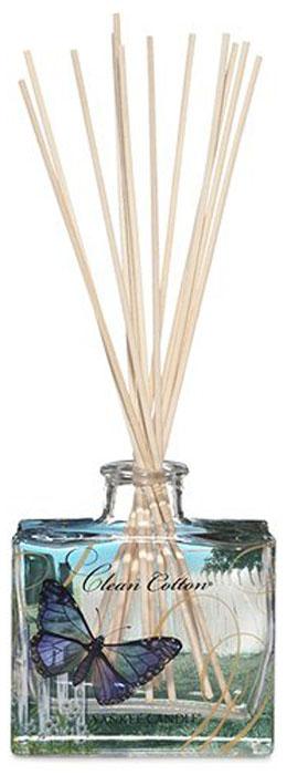 Диффузор Yankee Candle Чистый хлопок, 88 мл1348797EАромат высушенного на свежем воздухе хлопка, с лёгкими оттенками белых цветов и лимона.Верхняя нота: Озон, Зеленая листва, Бергамот.Средняя нота: Ландыш, Роза. Базовая нота: Ветивер, Кедр, Мускус, Древесные