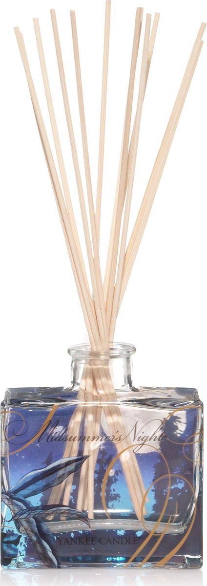 """Диффузор Yankee Candle """"Летняя ночь"""" имеет насыщенный немного терпкий, мужской аромат. Верхняя нота: цитрусовые, травянистые, древесные, бергамот, лайм. Средняя нота: лаванда, цветы шалфея. Базовая нота: кедр, ветивер, можжевельник, шалфей."""