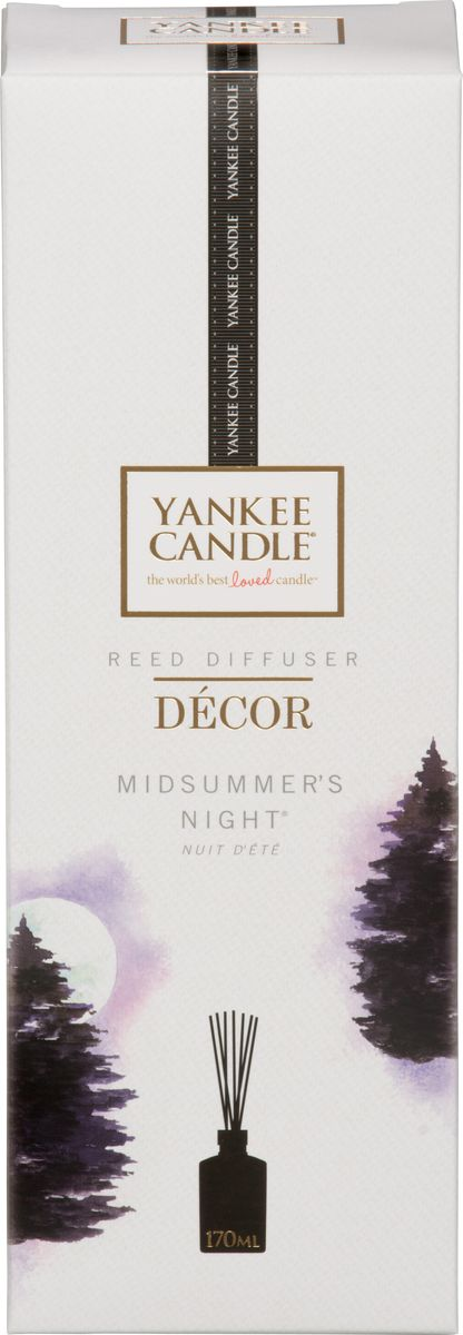 Диффузор ароматический Yankee Candle Летняя ночь, 170 мл автомобильные ароматизаторы yankee candle авто ароматизатор стик ночной жасмин car vent stick midnight jasmine