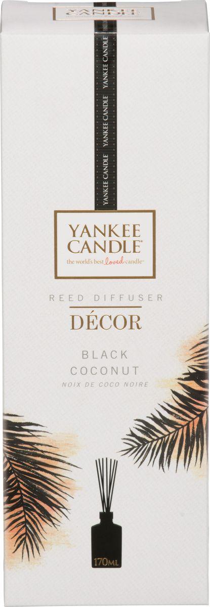 Диффузор ароматический Yankee Candle Черный кокос, 170 мл1348921EРайский закат с ароматом кокоса и кедра окутывает цветущий остров спокойствием. Верхняя нота: Фруктовый Ананас, КокосСредняя нота: Цветы КокосаБазовая нота: Пудровые Ноты, Древесные, Мускус
