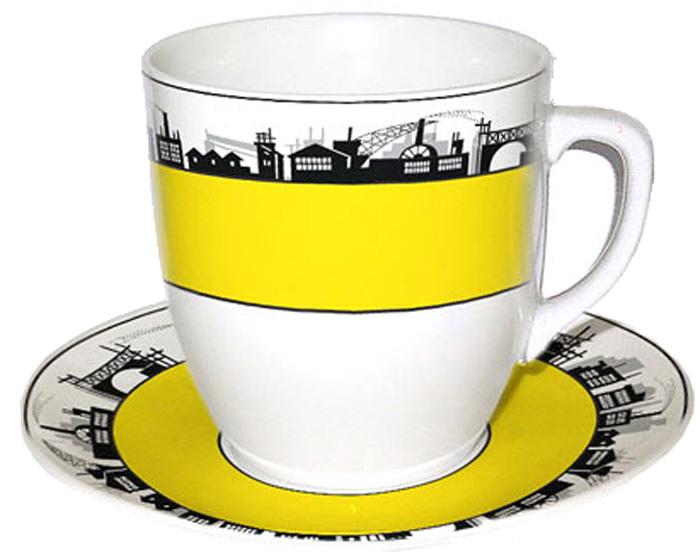 Чайная пара Фарфор Вербилок Тюльпан. Индустриализация. 39045070УП39045070УПКрасивая фарфоровая кружка способна скрасить любое чаепитие. Посуда из такого материала позволяет сохранить истинный вкус напитка, а также помогает ему дольше оставаться теплым.