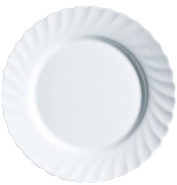 Тарелка обеденная Luminarc Trianon, диаметр 27 см68977Тарелка обеденная из серии Luminarc Trianon выполнена из ударопрочного стекла, устойчива к резким перепадам температуры. Пригодна для использования в посудомоечной машине и СВЧ. Тарелкапредназначена для сервировки вторых блюд, а также её можно использовать как подстановочную под тарелку для супа. Классическая форма и всегда актуальный дизайн позволит осуществить сервировку как повседневного, так и праздничного стола.