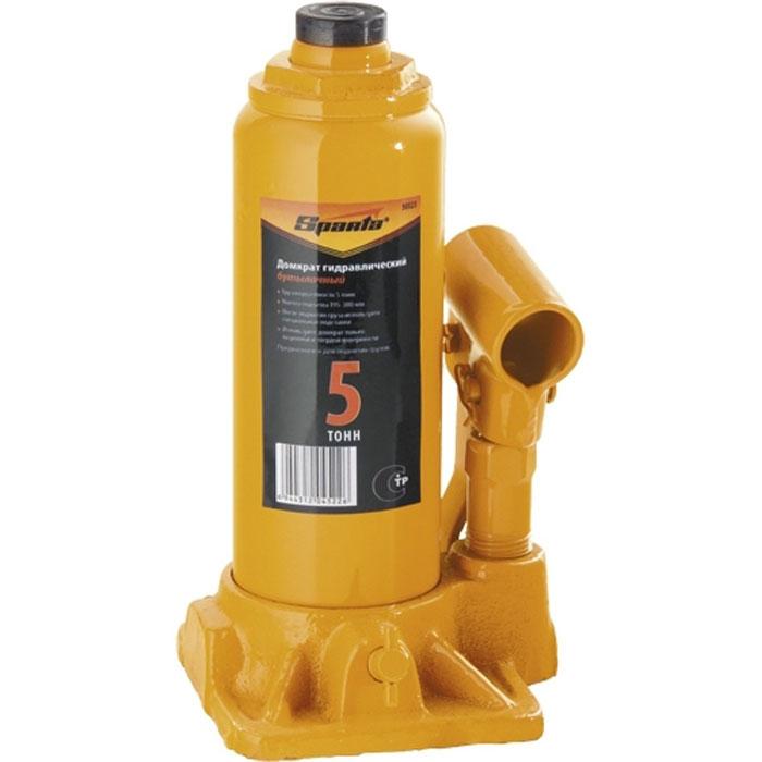 Домкрат гидравлический бутылочный Sparta, 5 т, высота подъема 19,5-38 см домкрат stayer red force гидравлический бутылочный 25 т высота подъема 24 37 5 см