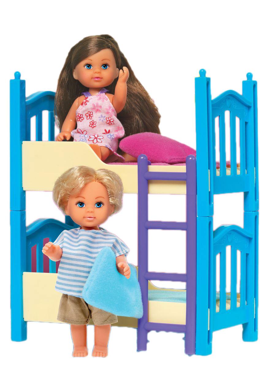 Simba Кукла Еви с братиком с двухъярусной кроваткой simba кукла evi
