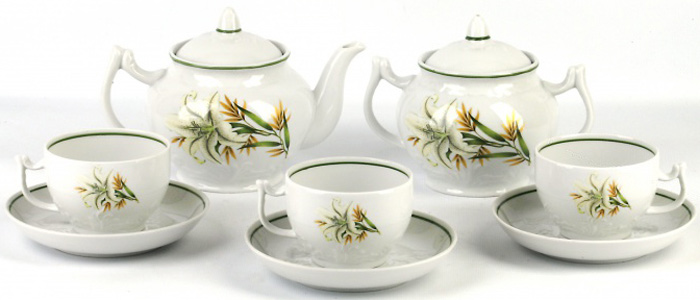 Сервиз чайный Фарфор Вербилок Белая лилия. 467198З наборы и сервизы