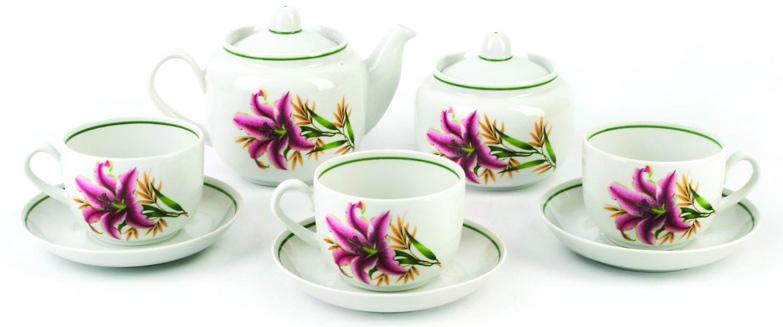Сервиз чайный Фарфор Вербилок Август. Розовая лилия. 45719904571990Чайные сервизы – это эксклюзивные наборы чашек и блюдечек. Все они отличаются совершенным качеством и неповторимостью. Каждый чайный сервиз из фарфора способен привнести в дом настроение праздничного застолья. Такие наборы подарят вам теплые ощущения от общения с близкими.