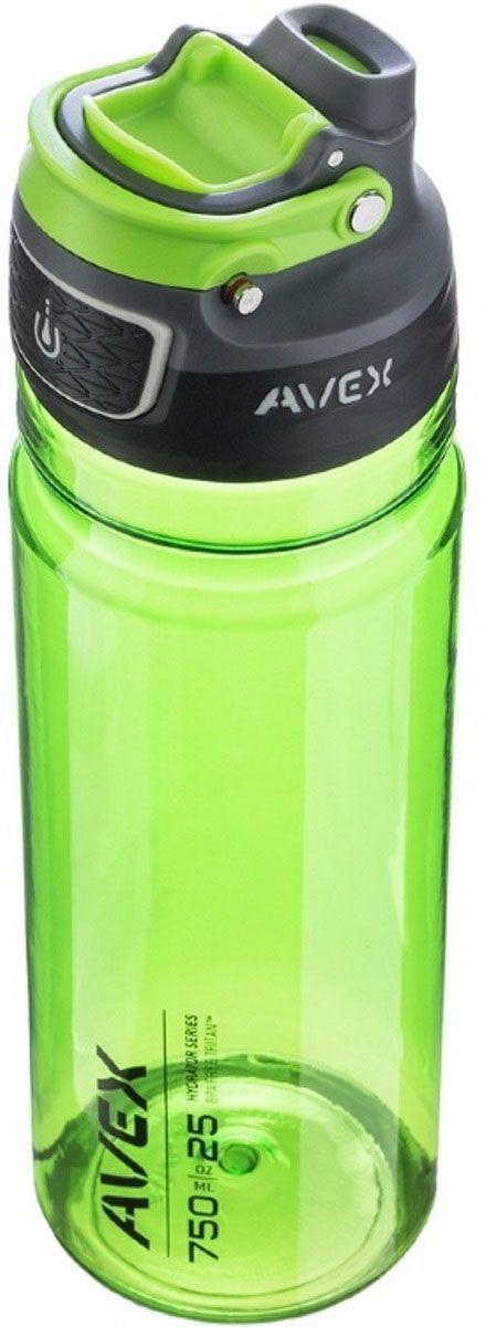 Бутылка для воды Avex Freeftow Tritan, 750 мл, цвет: зеленый. AVEX0683AVEX0683Бутылка для воды Avex Freeftow Tritan имеет объем 750 мл и прекрасно подходит для того, чтобы взять с собой в машину, в длительную поездку, в путешествие по городу или его окрестностям. Бутылку можно нести как в рюкзаке, так и в руках. Запатентованная система герметизации не позволит пролиться ни одной капле жидкости.Особенности:Система AUTOSEAL - крышка автоматически закрывается при помощи кнопки, как только вы закончили пить. Запатентованный замок предотвращает случайное нажатие кнопки, не пропуская ни капли воды. Удобный носик для питья. Крышка для защиты от загрязнений. Выдвижная ручка для переноски. Изготовлена из безопасного пластика, не содержит BPA. Можно мыть на верхней решетке посудомоечной машины.
