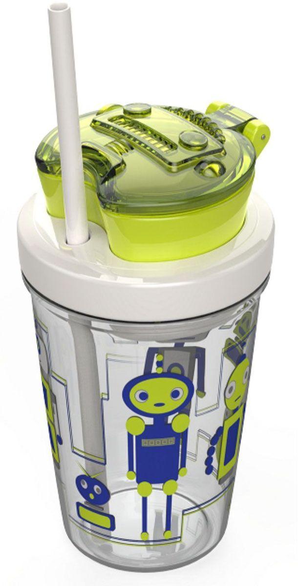 Contigo Детский стакан для воды Snack Tumbler с трубочкой цвет зеленый 350 млcontigo0628Стакан с трубочкой и контейнером для снеков Snack Tumbler позволяет удивлять вашего ребенка приятными бонусами к напитку. Контейнер для снеков и стакан с трубочкой для напитков могут использоваться независимо друг от друга. Защитное кольцо на трубочке предотвращает случайную потерю. Модный дизайн и яркое исполнение. Материал без содержания вредного BPA. Ударопрочный пластик Tritan: не окрашивается и не впитывает запахи содержимого. Безопасное мытье в посудомоечной машине.