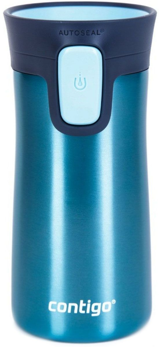 Термокружка Contigo Pinnacle, 300 мл, цвет: синийcontigo0738Термокружка Contigo Pinnacle с дополнительной защитой от случайного нажатия кнопки и системой легкого мытья. Термокружкас запатентованной технологией AUTOSEAL® от случайного пролития. Достаточно простого нажатия на кнопку Autoseal и можно безопасно наслаждаться напитком, система AUTOSEAL® герметично закроет кружку при отпускании кнопки. Кружка изготовлена из нержавеющей стали высшего качества, вакуумная изоляция гарантирует сохранение температуры горячих напитков до 3-х часов, холодных - до 9 часов.