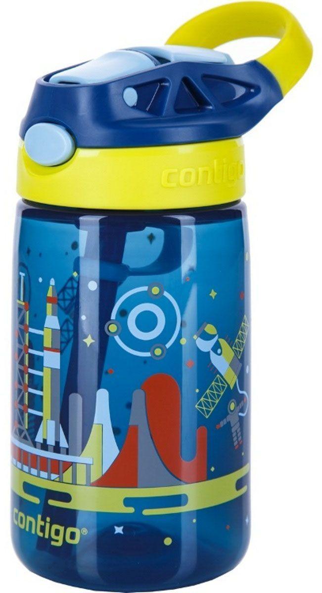 Contigo Детская бутылочка для воды Gizmo Flip цвет синий 420 млcontigo0742Детская бутылочка для воды Contigo Gizmo Flip - это важный аксессуар для ребенка, который позволит аккуратно пить воду, не промочив одежду или салон автомобиля. Удобный выдвижной носик обеспечивает гигиеничность и быстроту доступа к любимому напитку вашего ребенка. Он открывается при нажатии на специальную кнопку на крышке бутылочки. С помощью специальной ручки малыш получит возможность с удобством носить её, а также вешать на рюкзак, пояс или спортивный тренажер. Бутылочка изготовлена из экологически чистого пластика, который не содержит в своём составе Бисфенол А, не впитывает запахи и обладает защитой от окрашивания. Удобная поилка с крышкой-непроливайкой Autospout в дополнение к эргономичной форме и яркой расцветке делают данную бутылку незаменимой в дороге.