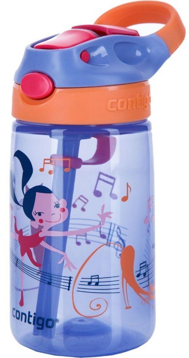 Contigo Детская бутылочка для воды Gizmo Flip цвет фиолетовый 420 млcontigo0743Детская бутылочка для воды Contigo Gizmo Flip - это важный аксессуар для ребенка, который позволит аккуратно пить воду, не промочив одежду или салон автомобиля. Удобный выдвижной носик обеспечивает гигиеничность и быстроту доступа к любимому напитку вашего ребенка. Он открывается при нажатии на специальную кнопку на крышке бутылочки. С помощью специальной ручки малыш получит возможность с удобством носить её, а также вешать на рюкзак, пояс или спортивный тренажер. Бутылочка изготовлена из экологически чистого пластика, который не содержит в своём составе Бисфенол А, не впитывает запахи и обладает защитой от окрашивания. Удобная поилка с крышкой-непроливайкой Autospout в дополнение к эргономичной форме и яркой расцветке делают данную бутылку незаменимой в дороге.