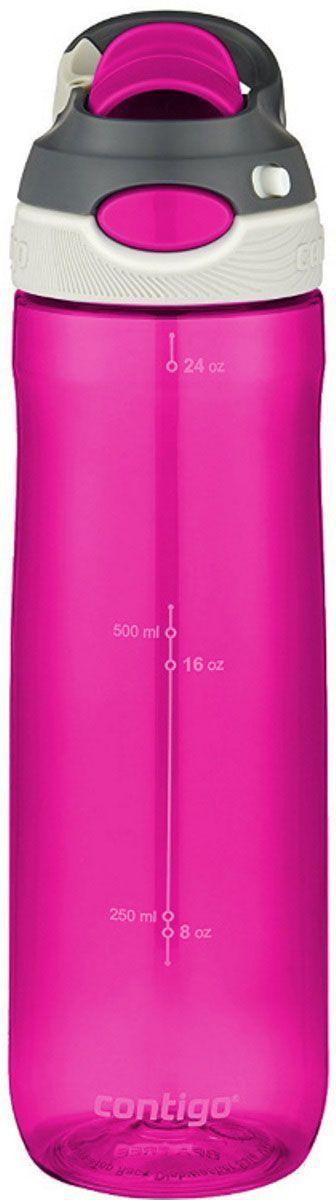 Бутылка для воды Contigo Autospout Chug, 720 мл, цвет: розовый. contigo0762contigo0762