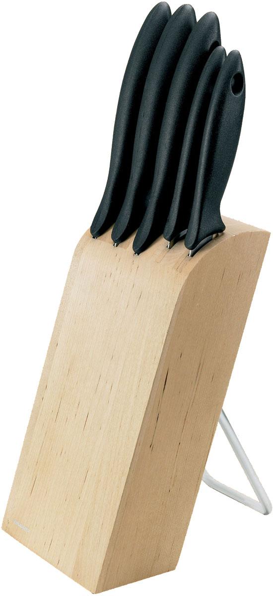 Набор ножей Fiskars Essential, на подставке, 6 предметов