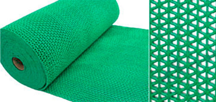 Коврик-дорожка противоскользящий SunStep Zig-Zag, цвет: зеленый, 0,9 х 12 м39-685Коврик-дорожка противоскользящий Zig-Zag 5мм 0,9х12 м, зеленый, SUNSTEP™