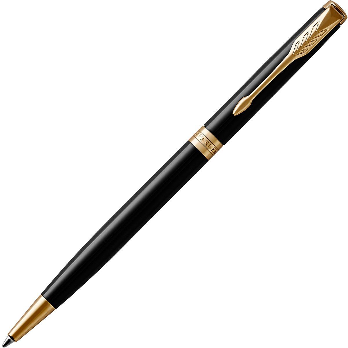 Parker Ручка шариковая Sonnet Slim Black Laque GTPARKER-1931498Материал корпуса и колпачка: Латунь, покрытая глянцевым черным лаком.Покрытие корпуса: Черный глянцевый лак.Торец ручки: латунь, покрытая золотом.Зажим колпачка: сталь, покрытая золотом. Кольцо: латунь, с золотым напылением.Зона захвата:пластик (только у шариковой ручки).Способ подачи стержня: Поворотный.Сделано во Франции.Аналог PARKER-S0808740