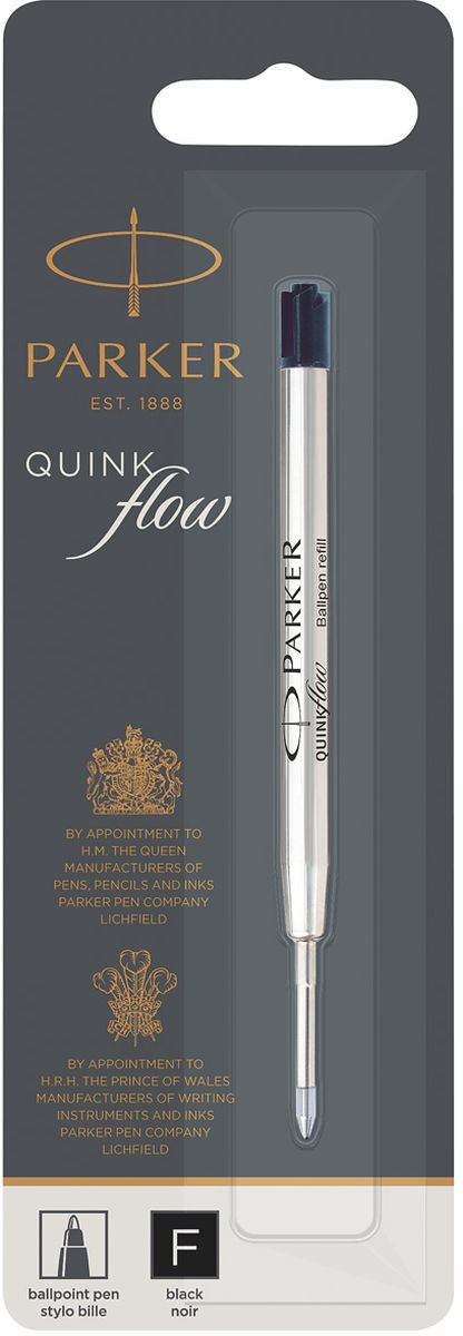 Parker Стержень для шариковых ручек Quink Flow Fine цвет черный parker 88 maroon lacquer gt fine point fountain pen