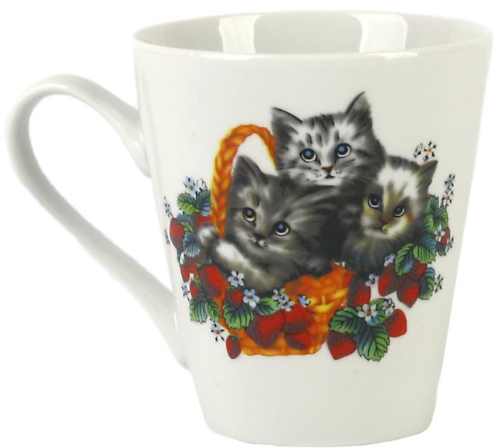 Кружка Фарфор Вербилок Коника. Котята. 3449095034490950Красивая фарфоровая кружка способна скрасить любое чаепитие. Посуда из такого материала позволяет сохранить истинный вкус напитка, а также помогает ему дольше оставаться теплым.
