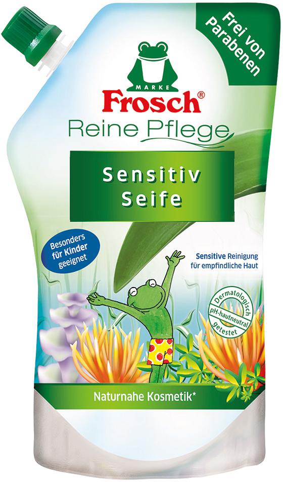 Жидкое детское мыло для рук Frosch, ухаживающее, сменная упаковка, 500 мл101599Детское мыло для рук Frosch - это мягко ухаживающеемыло, нежные увлажняющие компоненты которого специально разработаны под различные потребности чувствительной детской кожи. Ухаживающее детское мыло Frosch при каждом мытье рук защищает кожу от пересушивания. Кроме того, питательные, смягчающие компоненты сохраняют естественную защиту кожи и дают приятное ощущение мягкости.Эту нежную концепцию дополняет мягкий цветочный аромат. Мыло pH-нейтрально для кожи и проверено дерматологами. Характеристики:Объем: 500 мл. Производитель: Германия. Товар сертифицирован.Уважаемые клиенты! Обращаем ваше внимание на возможные изменения в дизайне упаковки. Качественные характеристики товара остаются неизменными. Поставка осуществляется в зависимости от наличия на складе.