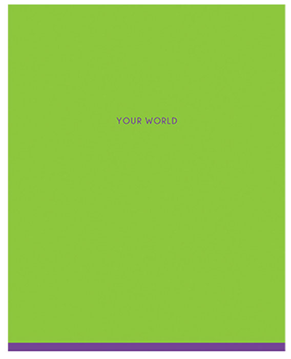 Greenwich Line Тетрадь One Color 48 листов в линейкуN5I48-12901Тетрадь общая 48 листов на скобе, формата А5 (165 х 205 мм). Внутренний блок – офсетная бумага повышенной плотности 70 г/м, белизна 100%, линия. Обложка изготовлена из импортоного целлюлозного мелованного картона с двусторонней запечаткой, отделка обложки – глянцевая ламинация.