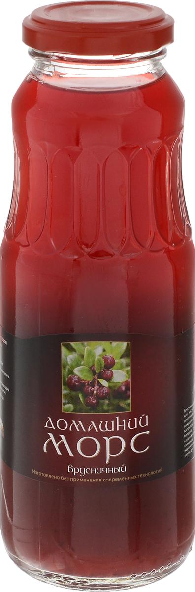 Домашний натуральный морс брусничный на фруктозе, 0,25 л добрый сок яблоко персик 0 2 л